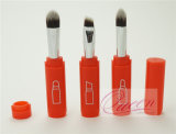 Eyeshadow plástico Brush Set 3PCS Red Cosmetic Brushes