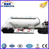 3 Eixos Estilo Vertical Farinha / Cimento / Grão / Pó Material Transporator Semi-Reboque Cisterna