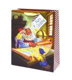 Мешки подарка рождества бумажные с штемпелями яркия блеска и фольги, мешком подарка бумажным, мешком Kraft бумажным