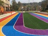 幼稚園の子供のカラー人工的な走路の多色刷りの人工的な草のためのKaiqiの多彩な人工的な草