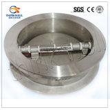 Tipo duttile valvola di ritenuta della cialda del ferro doppia della falda dell'oscillazione del piatto