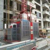Double élévateur de construction d'élévateur de passager de cage de Sc200/200 2ton