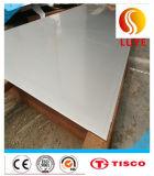 Placa laminada a alta temperatura de superfície inoxidável do aço 2b