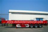 3-as daling-Kant/de Semi Aanhangwagen van de Zijwand voor 20FT Container, de Aanhangwagen van de Vrachtwagen