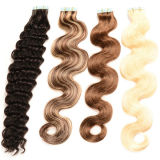 Ombre Remy Micro Tape Hair Extension, Raw Unprocessed Virgin brasilianisches Menschenhaar für Tape in Extensions
