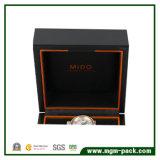 Rectángulo de reloj laqueado de madera sólida de la alta calidad