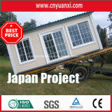일본에 있는 Wall를 가진 20ft Container Hosue Being Decorated와 Rood Cladding