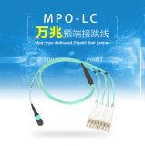 cordon de connexion de fibre de 8-Core MPO-LC