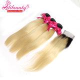Capelli 100% di Remy dei capelli di colore di Ombre di prezzi di fabbrica nessun groviglio