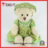 Het groene Stuk speelgoed van de Teddybeer van de Douane Skrit Pluche Gevulde