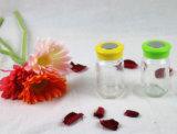 Het Olie-en azijnstelletje van het glas/de Fles van het Kruid van het Zout en van de Peper met Plastic Deksel