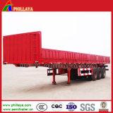 Flachbett-halb Schlussteil-Lastwagen-Schlussteil mit 40FT Behälter-Verschlüssen