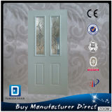 Porta decorativa dobro do aço do vidro Tempered de Lite