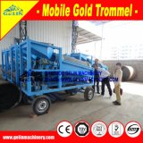 10-20 equipamento de mineração aluvial do ouro de Tph, máquina de mineração móvel Gl615 do ouro
