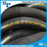 boyau à haute pression de 1sn 2sn/boyau hydraulique de Multi-Spirale avec des embouts