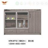 Mesa de centro caliente de la cabina del té de la melamina de la venta con las puertas de cristal para los muebles del hotel (H70-0712)