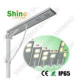 2016 réverbère solaire Integrated solaire chaud de détecteur de mouvement de réverbère de la vente 5W-100W DEL tout dans un (Shinehui)
