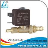 """Bona ação Zcq-20b-28 direta válvula de solenóide do gás *6.5mm MIG do bronze 8mm de """""""