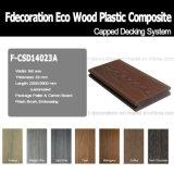 Decking compuesto capsulado de Eco del suelo de la cubierta de WPC