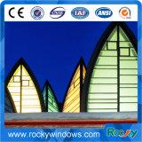 Mur rideau en verre estampé de décoration en verre d'art