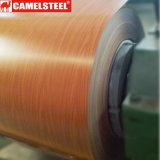 나무는 중국 제조자에서 PPGI/Prepainted에 의하여 직류 전기를 통한 강철 코일을 인쇄했다