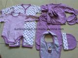 Vestito sveglio 100%, giovani vestiti del corpo del bambino di disegno del cotone appena nato dei regali del bambino