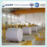 Un rodillo transportador de la fábrica de papel