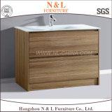 Alta qualidade PVC Wood Grain Wholesale Gabinetes de banheiro Vanity