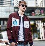단추를 가진 다채로운 남자의 재킷을 인쇄하는 새 모델 방수 스크린
