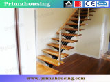 InnenWrought Iron Rod Railing Staircase mit Solid Wood Tread