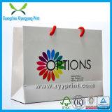 Bolso de compras de papel de encargo para el paño y el empaquetado