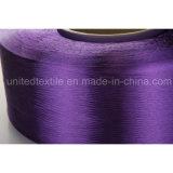 Fio Narcótico-Tingido poliéster 100% do filamento para 100d/48f FDY maçante cheio