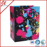 Sacos de papel de presente de flores coloridas Sacos de compras de presentes
