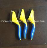 Cepillo plástico de la manija del alambre de cobre amarillo/inoxidable de Steel/PP (YY-510)