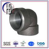Acero de carbón apropiado de la autógena del socket codo de 90 grados