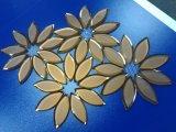 Mosaico de cristal biselado de la flor 2017