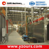 Steel automático Powder Coating Machine com Pretreatment System