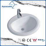 反対の陶磁器の流し(ACB005)の上の浴室の洗面器