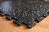 Le verrouillage réutilisent les étages en caoutchouc colorés de gymnastique de machine à paver de tuiles en caoutchouc