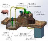Séparateur professionnel de solide-liquide d'écran de vis pour le porc/poulet/canard/vache/bétail/fumier/bétail/volaille