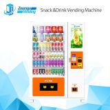 Máquina de venta automática de la pantalla táctil para vender el bocado y la bebida y el combo