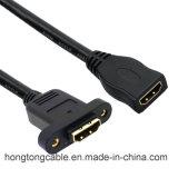 24k het goud Geplateerde 1.4V Wijfje van HDMI aan Vrouwelijke Kabel