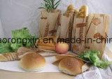 Ein seitliches PET überzogenes Braunes Packpapier für Brotverpackung-Beutel