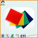 Junta de plexiglás colorido vidrio orgánico en polimetacrilato de metilo plexiglás