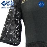 黒いレースの肩見通しの網のレースの方法女性服