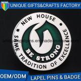 Distintivo su ordinazione del metallo di alta qualità del rifornimento con la frizione della farfalla