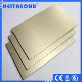 El panel compuesto de aluminio aplicado con brocha del material de construcción