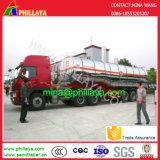 Cimc 유형 반 스테인리스 유조선 기름 연료 탱크 트럭 트레일러