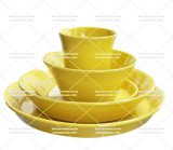 Jogo de jantar novo da cor do amarelo do tipo