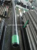 Agujero redondo Perforado Cilindro Agua Pozo de perforación de pozo de acero de arena Control de tubería de la pantalla